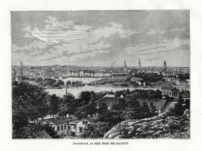 Stockholm, as Seen from the Saltsjon, Sweden, 1879- Laplante-Giclee Print