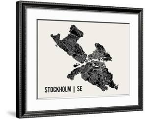 Stockholm Map Art Print