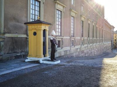 Stockholm Palace, Guard, West Front-Frina-Photographic Print