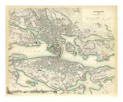 Stockholm, Sweden, c.1838--Art Print
