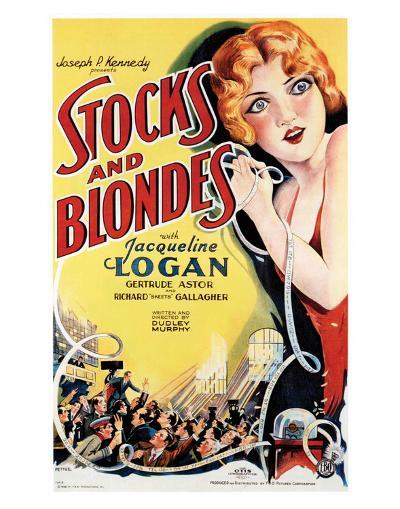 Stocks And Blondes - 1928--Giclee Print