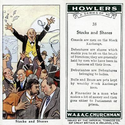 Stocks and Shares, 1936-René Bull-Giclee Print
