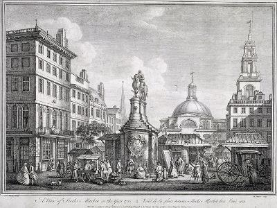 Stocks Market in Poultry, London, C1728-Sutton Nicholls-Giclee Print