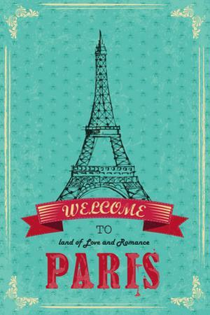 Eiffel Tower For Retro Travel Poster by stockshoppe