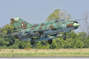 A Bulgarian Air Force Mig-21 During Exercise Thracian Star by Stocktrek Images