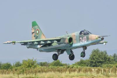 A Bulgarian Air Force Su-25 Jet During Exercise Thracian Star by Stocktrek Images