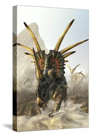A Charging Styracosaurus