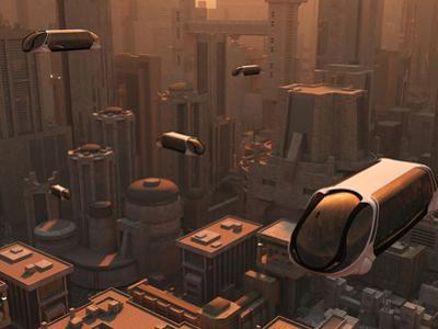 A Conceptual Image of a Futuristic City by Stocktrek Images
