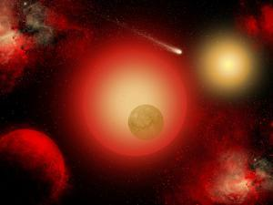 A Distant Binary Star System Located Within the Milky Way by Stocktrek Images