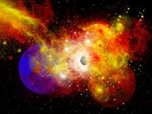 A Dying Star Turns Nova as it Blows Itself Apart by Stocktrek Images