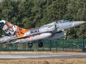 A French Air Force Mirage 2000 Lands on the Runway at Kleine Brogel Air Base, Belgium by Stocktrek Images