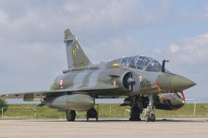 A French Air Force Mirage 2000C at Nancy Air Base, France by Stocktrek Images