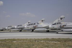 A Group of Dassault Mirage 2000-5Eda-Dda of the Qatar Emiri Air Force by Stocktrek Images