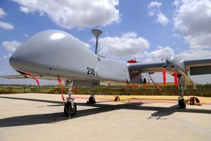 A Heron Tp Unmanned Aerial Vehicle of the Israeli Air Force by Stocktrek Images