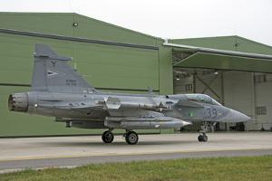 A Hungarian Air Force Jas-39 Gripen by Stocktrek Images