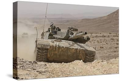 A Merkava Iii Main Battle Tank in the Negev Desert, Israel