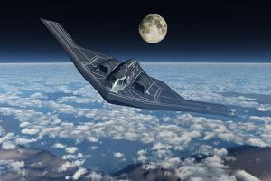 A North American B-2 Spirit Stealth Bomber Flying at High Altitude by Stocktrek Images