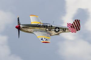 A P-51 Mustang Flies by at Waukegan, Illinois by Stocktrek Images