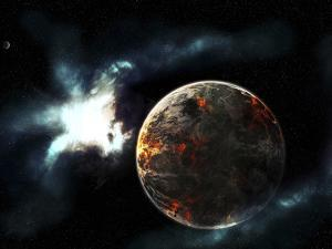 A Planet Harvested Off it's Resources and Left for Dead on it's Own by Stocktrek Images