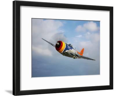 A Republic P-47D Thunderbolt in Flight