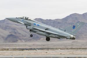 A Royal Air Force Eurofighter Typhoon Fgr4 Taking Off by Stocktrek Images