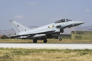 A Royal Air Forcetyphoon Fgr4 Taking Off from Konya Air Base, Turkey by Stocktrek Images