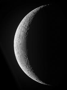A Saxing Crescent Moon in High Resolution by Stocktrek Images