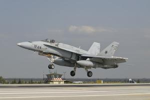 A Spanish Air Force F/A-18C During Exercise Anatolian Eagle by Stocktrek Images