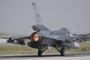 A Turkish Air Force F-16C Block 52+ Taking Off from Konya Air Base, Turkey by Stocktrek Images