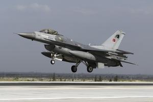 A Turkish Air Force F-16C Fighting Falcon in Midair by Stocktrek Images