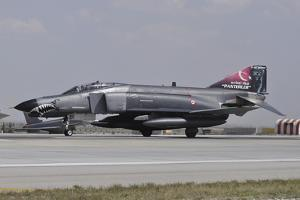 A Turkish Air Force F-4E 2020 Terminator Ready for Take-Off by Stocktrek Images