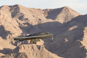 A U.S. Air Force B-2A Spirit Prepares for Landing by Stocktrek Images