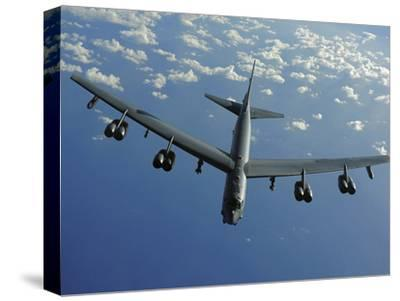A U.S. Air Force B-52 Stratofortress Flies a Mission over the Pacific Ocean