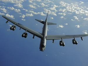 A U.S. Air Force B-52 Stratofortress Flies a Mission over the Pacific Ocean by Stocktrek Images