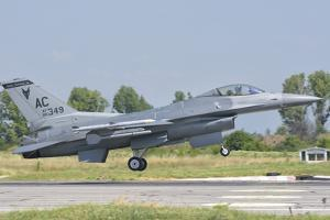 A U.S. Air Force F-16 During Exercise Thracian Star in Bulgaria by Stocktrek Images