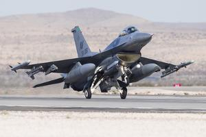 A U.S. Air Force F-16C Fighting Falcon Landing by Stocktrek Images