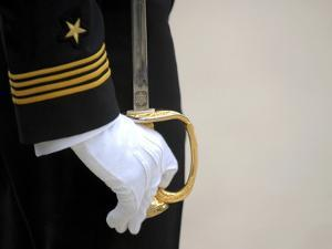 A U.S. Naval Academy Midshipman Stands at Attention by Stocktrek Images