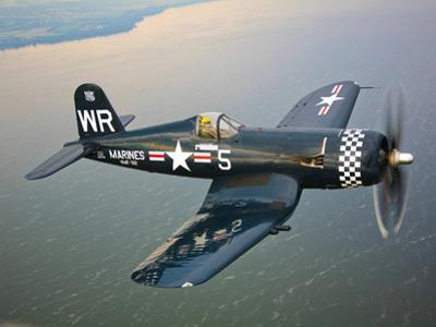 A Vought F4U-5 Corsair in Flight