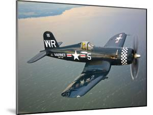 A Vought F4U-5 Corsair in Flight by Stocktrek Images