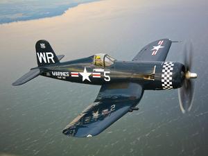 A Vought F4U-5 Corsair in Flight by Stocktrek Images