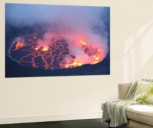Active Lava Lake in Pit Crater, Nyiragongo Volcano, Democratic Republic of the Congo by Stocktrek Images