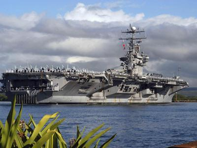 Aircraft Carrier USS Abraham Lincoln Arrives in Pearl Harbor, Hawaii