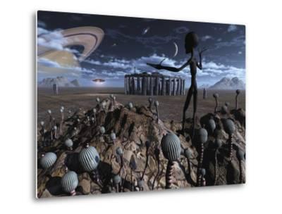 Alien Explorers on an Alien World by Stocktrek Images