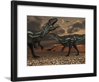 Allosaurus Dinosaurs Stalk their Next Meal