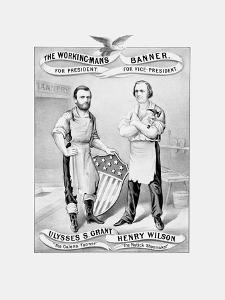 American History Election Print Featuring Ulysses S. Grant and Henry Wilson by Stocktrek Images