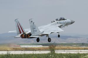 An Israeli Air Force F-15D Barak Taking Off from Tel Nof Air Base, Israel by Stocktrek Images