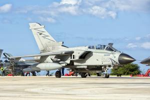 An Italian Air Force Tornado Ecr at Trapani Air Base, Italy by Stocktrek Images