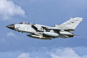 An Italian Air Force Tornado Ecr in Flight over Italy by Stocktrek Images