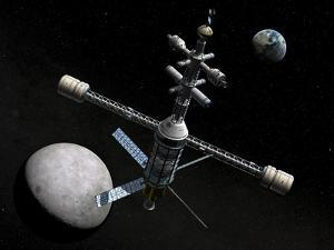 Artist's Concept of a Lunar Cycler by Stocktrek Images