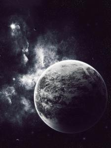 Artist's Concept of a Windy Planet with a Thick Atmosphere by Stocktrek Images